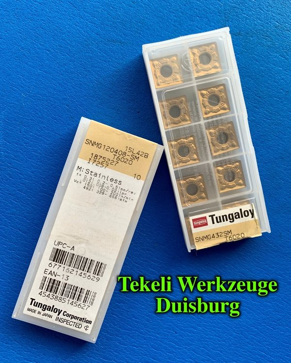 TUNGALOY 10 x SNMG 12 04 08-SM T6020