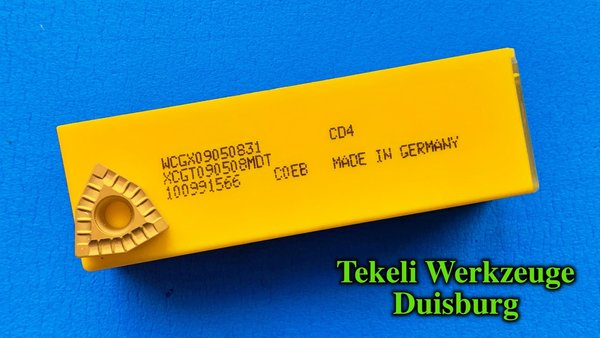 KENNAMETAL / HERTEL 10 x WCGX 090508-31 CD4 neue Bz.: DFT 090508MD KC7140